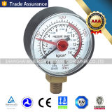 スチール・ケースの調整装置のための乾式の圧力計