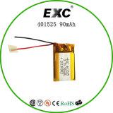 De Batterij van het Herladen van Exc401525 90mAh 3.7V voor GPS