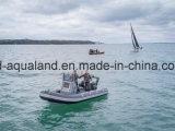 Barco inflable rígido de /Dive del barco del bote de salvamento de Aqualand 18feet los 5.4m/de motor de la costilla/patrulla del salto (RIB540A)