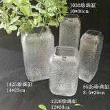 Hermoso florero de vidrio de patrón de la burbuja de promoción de la botella de vidrio