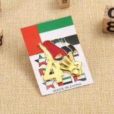 Высокое качество пользовательских Gold ОАЭ булавка с резервное копирование карты пакета