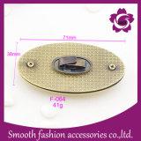 Hardware ovale degli accessori della borsa della serratura di girata del sacchetto della lega del metallo di modo