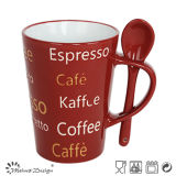 11oz caffè espresso Ceramic Cup con Spoon