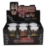 제조 50mm 3layers Ainc Alloy Skull Herb Grinder