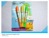 3PCS Rotatable Fluorescence Crayon voor Kids en Students
