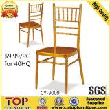 ホテルの金属のより安い宴会の金のChiavari Tiffanyの椅子