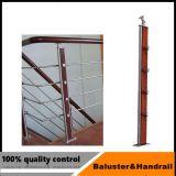 Pasamanos de acero inoxidable puesto por escalera o balcón