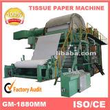 Petite machine de fabrication de papier de Jumboo de tissu facial de 5 tonnes/jour (1880mm)