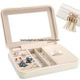 Caso de empacotamento pequeno do armazenamento da caixa de jóia do curso com grande espelho