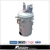 13,8kv 10kVA Transformateur à huile monophasé Transformable type conventionnel