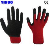 Coque en polyester enduit de latex Palm gants de sécurité industrielle