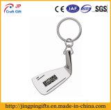 La figura su ordinazione in lega di zinco l'anello chiave materiale del metallo della pressofusione con la catena