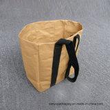 Bolsa de papel lavable de Kraft de Kraft de papel del alimento gris lavable de la bolsa
