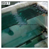 Venda quente vidro desobstruído endurecido com bom preço para edifícios