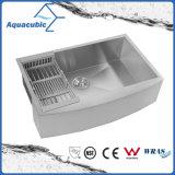 Aquacubic einzelnes Filterglocke-Küche-rostfreies Schutzblech-handgemachte Wanne (ACS3020A1Q)