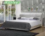 Cama matrimonial del dormitorio S131 del cuero simple del diseño