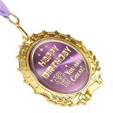 Personalizar hermosa medalla de oro para el feliz cumpleaños