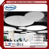 Materiales decorativos de color verde del deflector de techo de fibra de vidrio acústico Panel /
