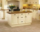 Gabinete de cozinha de madeira do projeto o mais novo