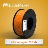 Профессиональные производители Ecubmaker 1,75 мм 1000g 3D PLA нити накаливания оранжевого цвета