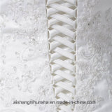 Роскошный новый прибытия свадебные платья использованием стекла кружевом