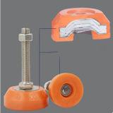 糸表の机のキャビネット装置のための調節可能なPVC /Rubberフィート
