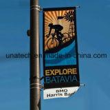 Улица напольное светлое Поляк рекламируя набор держателя знамени объявлений средств флага