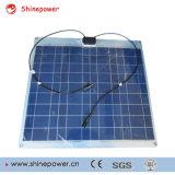 Polyhalb flexibler Sonnenkollektor 50W für Boot mit Kabel