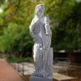 Exquis sculpture en marbre sculpté à la main Figure Quatre Saison Lady Statue de jardin