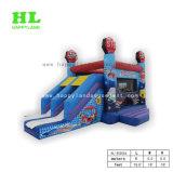 Personalizzato Caldo-Vendere combinato gonfiabile di tema freddo del Autodrome con 2 trasparenze del vicolo per il divertimento dei capretti mette in mostra le esercitazioni