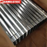 Feuille ondulée en acier galvanisée Camelsteel de toiture de bonne qualité