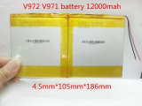 3.7V de Batterij 12000mAh Batterij 4593105 van de Batterijen van het Polymeer van het lithium V972 V971 van PC van de Tablet van 9 Duim
