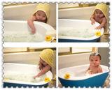 Microfiberの網のPoufの浴室のKonjacスポンジまたは子供の浴室またはクリーニングのスポンジ