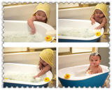 Губка ванны Pouf сетки Microfiber Konjac/ванна детей/губка чистки