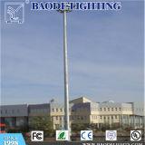 Campo de Fútbol de la Plaza del aeropuerto de galvanizado en caliente Q235 redondo de acero de alta poligonal cónico, Polo de iluminación de la luz del mástil