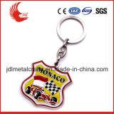Diseño libre de la oferta del metal barato Keychain de las cartas de los materiales de la alineada