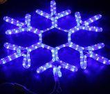 Nova chegada 40cm levou as luzes do floco de neve para decoração de férias