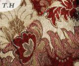 2016の大きい赤の花のシュニールのジャカードソファーおよび家具ファブリック(FTH31617)
