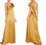 Mesdames Silk-Charmeuse Gold Zahara Robe longue Robe du soir d'or
