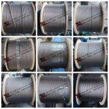 AISI 304 7X7 Cabo de Aço Inoxidável Núcleo da fibra óptica
