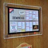 عالة جدار يعلى أكريليكيّ [لد] قائمة الطعام [ديسبلي بوأرد]