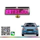 Индикатор Bluetooth Car подписать с солнечной энергии и зарядка через USB розового цвета LED Mini оставить сообщение на дисплее панели управления появляется сообщение Светодиодный индикатор платы Рождество подарок индикатор работает панно