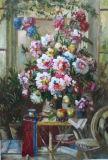 Картины маслом - впечатление цветок
