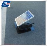 25watt 9inchの中電池が付いている屋根のための経済的な太陽アチックファン