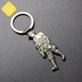 Los proveedores de China en 3D personalizadas de plata de latón chapado en oro de metal Llavero Logo