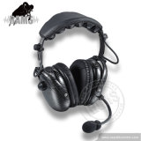 Dual de fibra de carbono Earmuff Canclling ruido de radio de dos vías auriculares auriculares Walkie Talkie para Motorola Kenwood Hytera
