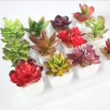 Мини-Искусственные растения бонсай Succulents искусственные цветы