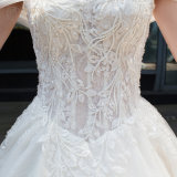 Shoulder Ladies Lace Wedding Dress Bridal Gown (BH004)を離れたOEM