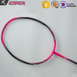 Rosa, 68 gramas de peso mais leve Utilizado Japonês Toray 46t em fibra de carbono grafite ODM OEM raquete de badminton personalizada