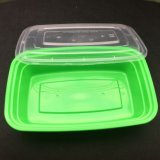 Рр пластика после обеда Fast-Food зеленого цвета .